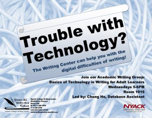Technology Academic Writing Group for Nyack College Writing Center, NYC campus