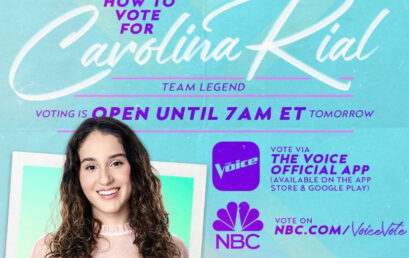 Vote For WNYK Supporter Carolina Rial on NBC's THE VOICE